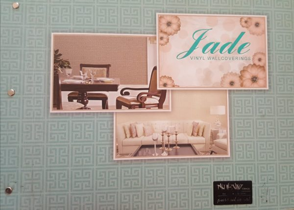 Wallpaper Premium Jade Vinyl Wallcovering