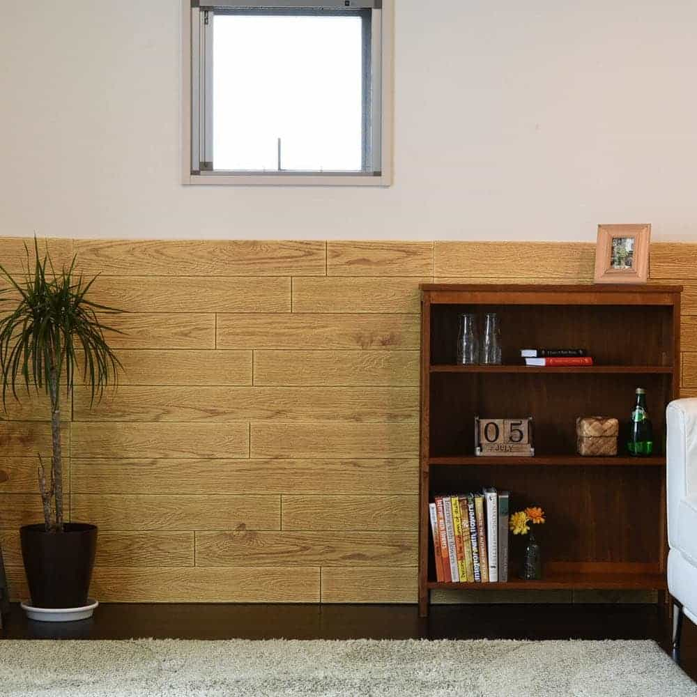 Wallpaper3D dengan motif kayu