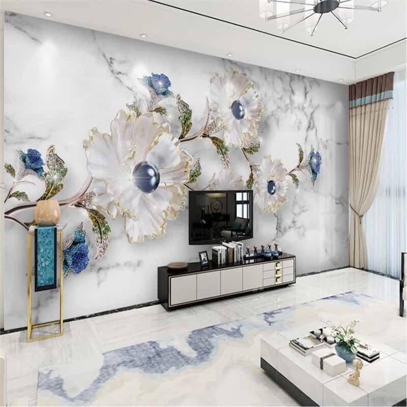 Wallpaper3D marmer untuk rumah elegan
