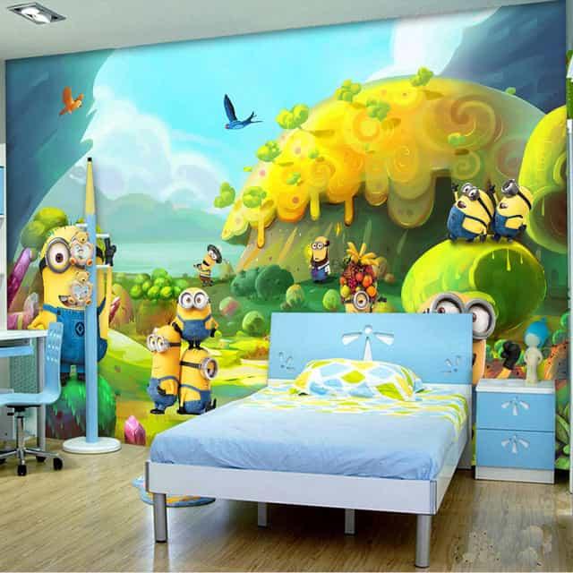 Wallpaper3D untuk kamar anak-anak