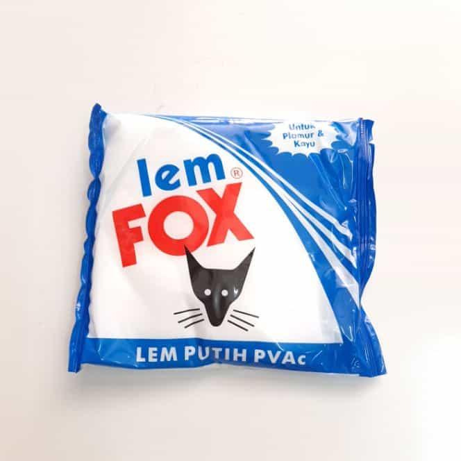 Wallpaper dinding Lem Fox Putih