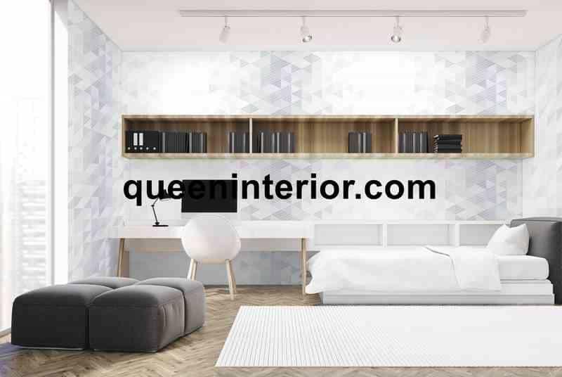 Motif Wallpaper Minimalis dengan Garis Warna Terang